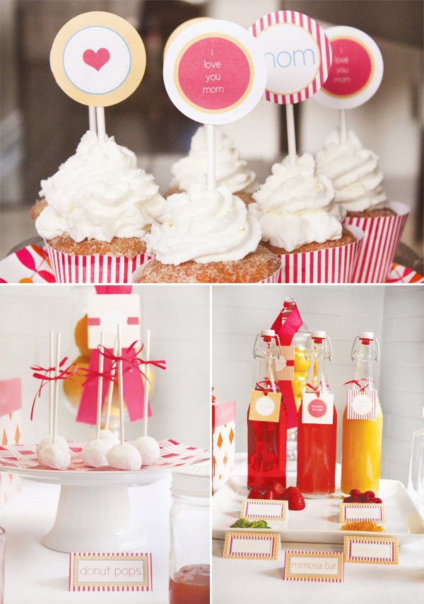 mother's day brunch cupcake toppers