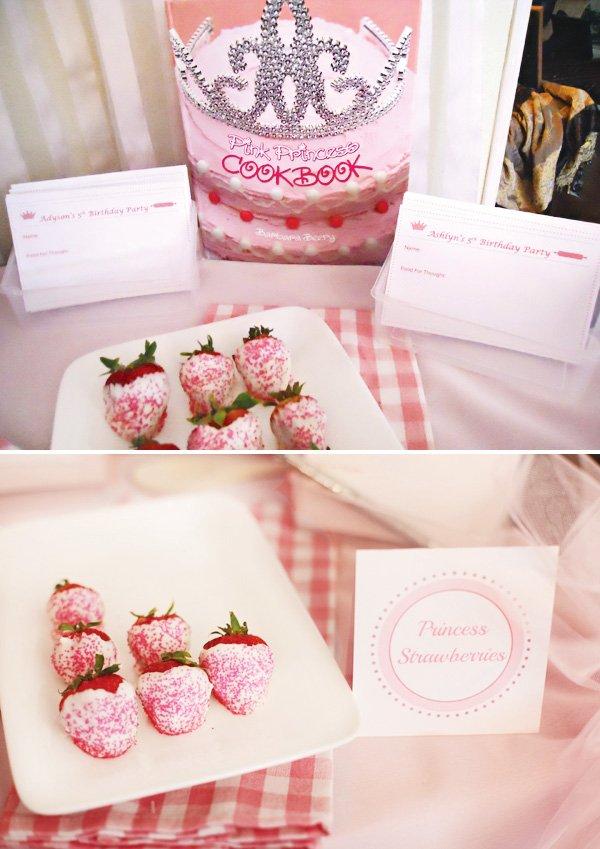 pink princess cookbook party
