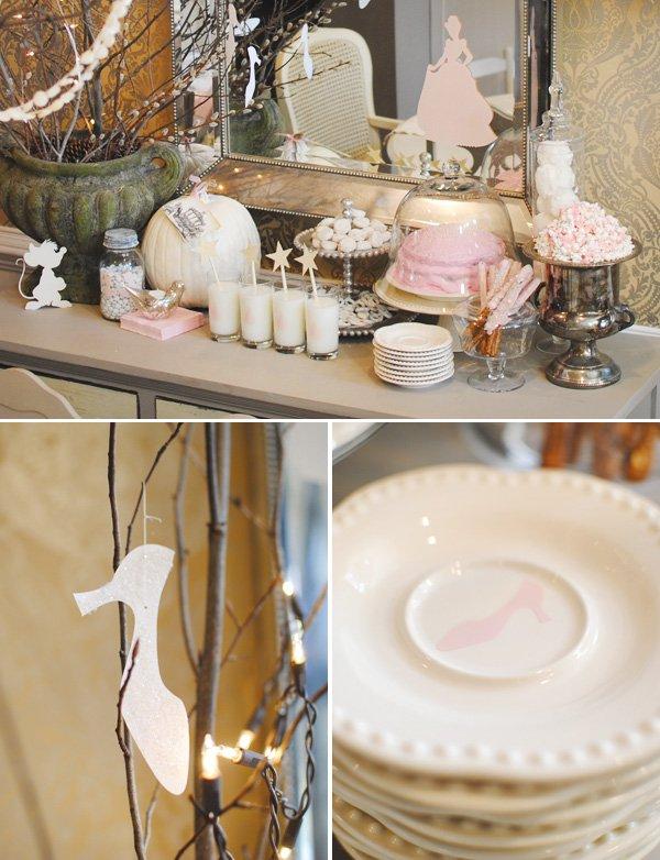 Cinderella slipper decorations