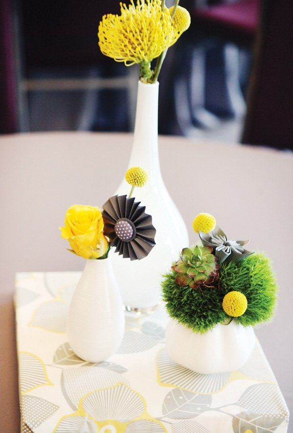 Modern Yellow And Gray Wedding Diy Ideas Hostess With The Mostess