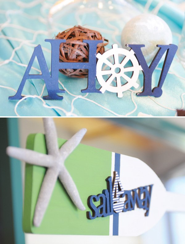 ahoy baby shower sign