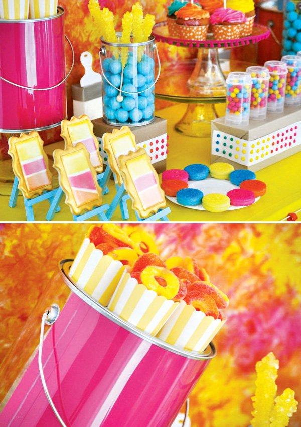 art party dessert table ideas