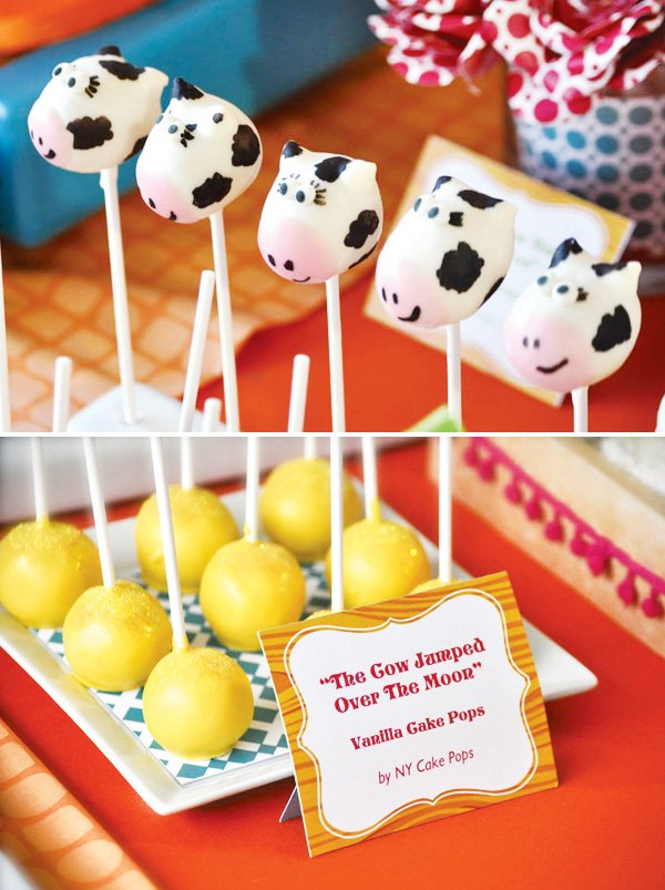 cow jumped over the moon cake pops