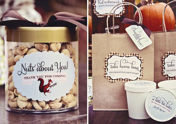 cute brown gingham party favors