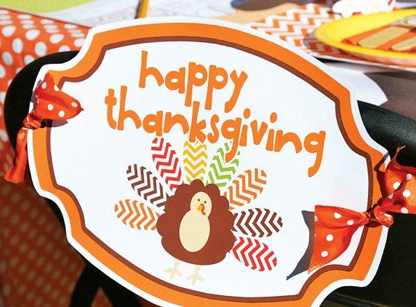 cute thanksgiving chair back