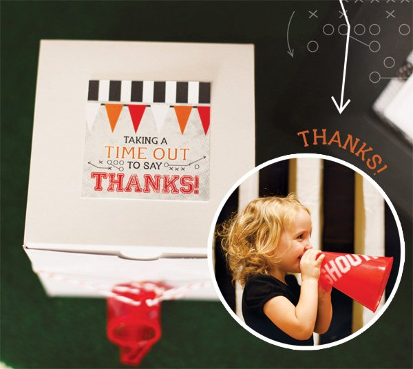 football party favor boxes
