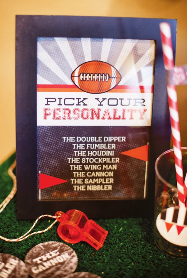 pick your personality for a football party with free printables