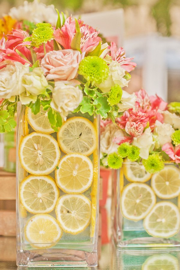 pink lemonade centerpiece