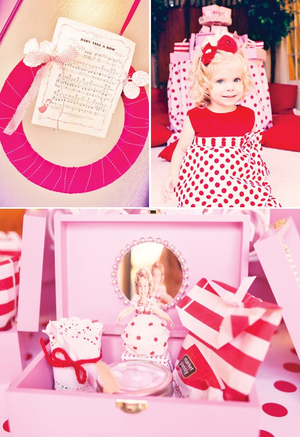 vintage shirley temple birthday party