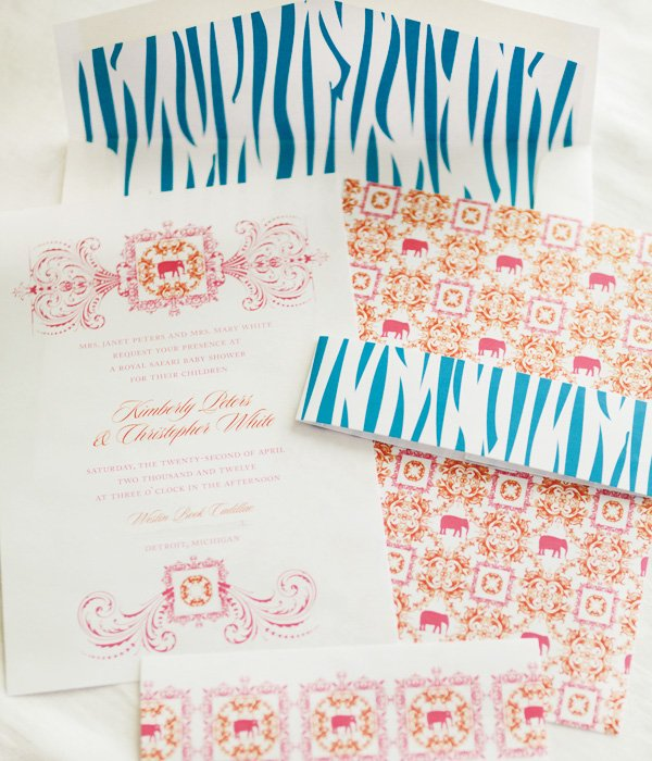 zebra invitation set