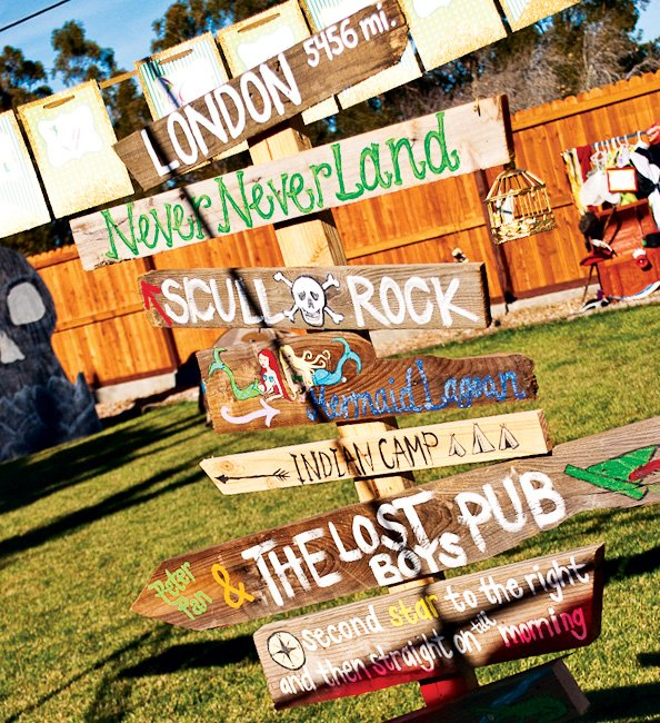 Neverland Party Sign