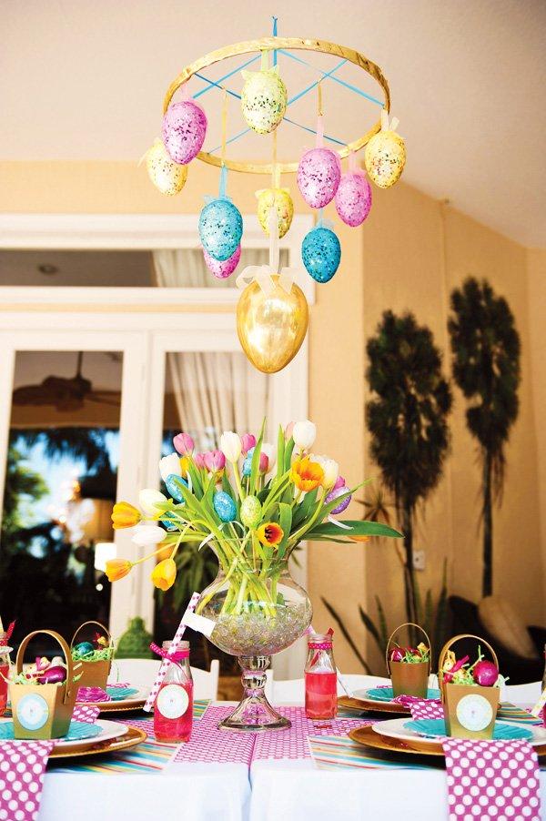 easter egg chandelier