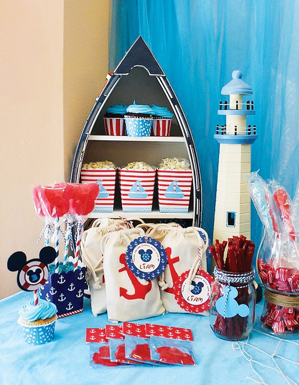 Sailor Mickey Mouse decorations