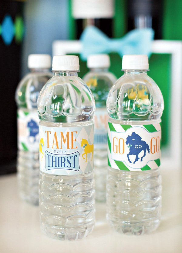 free Kentucky Derby water bottle labels - HWTM