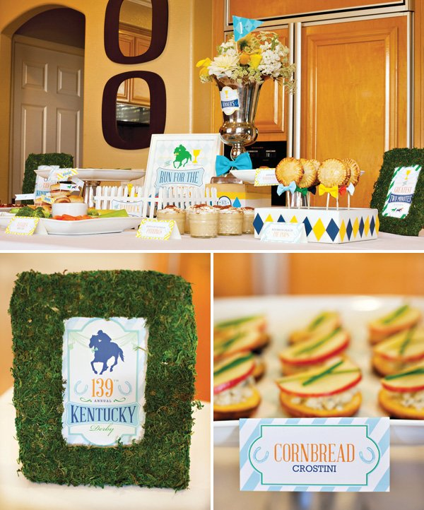 Kentucky Derby Party Food Table - Appetizer Ideas