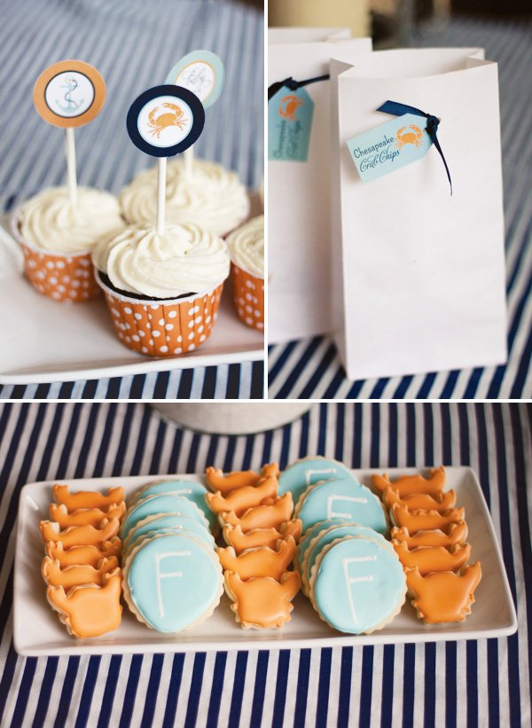 Nautical crab baby shower ideas