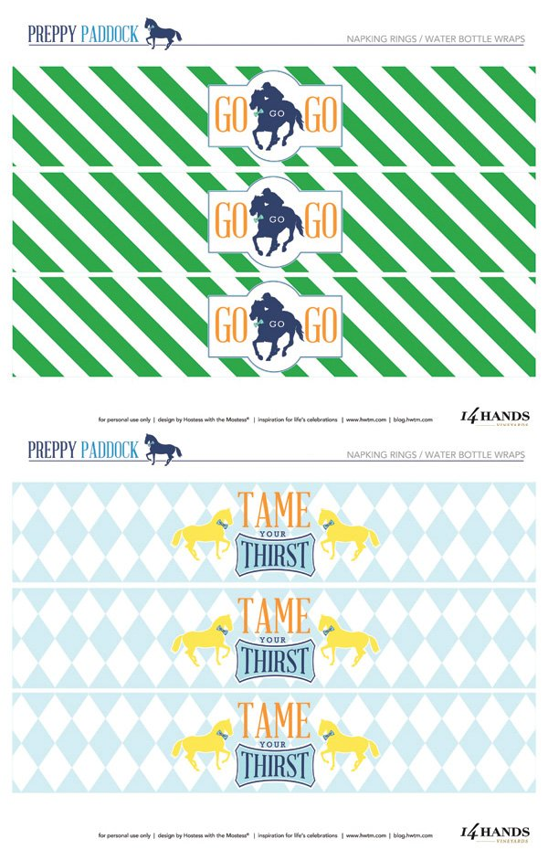 free printable preppy water bottle labels
