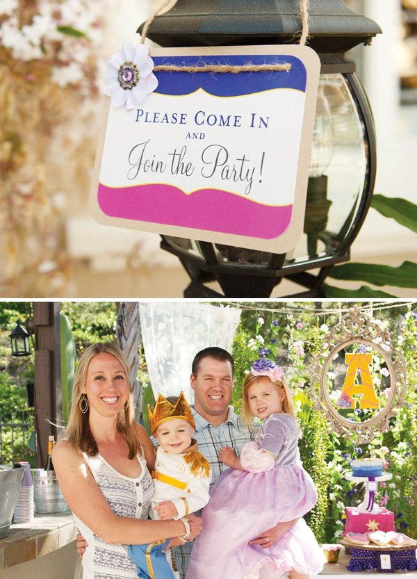 tangled party welcome sign