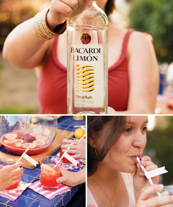 cocktails with Bacardi Limon