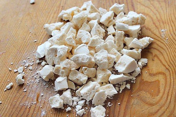 crushed meringue