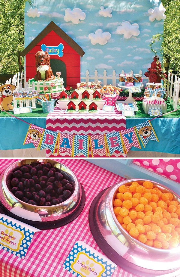 Playful Doggy Party Ideas Girls Birthday Hostess With The Mostess