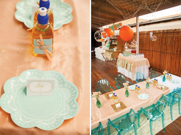 mermaid party kids table decorations