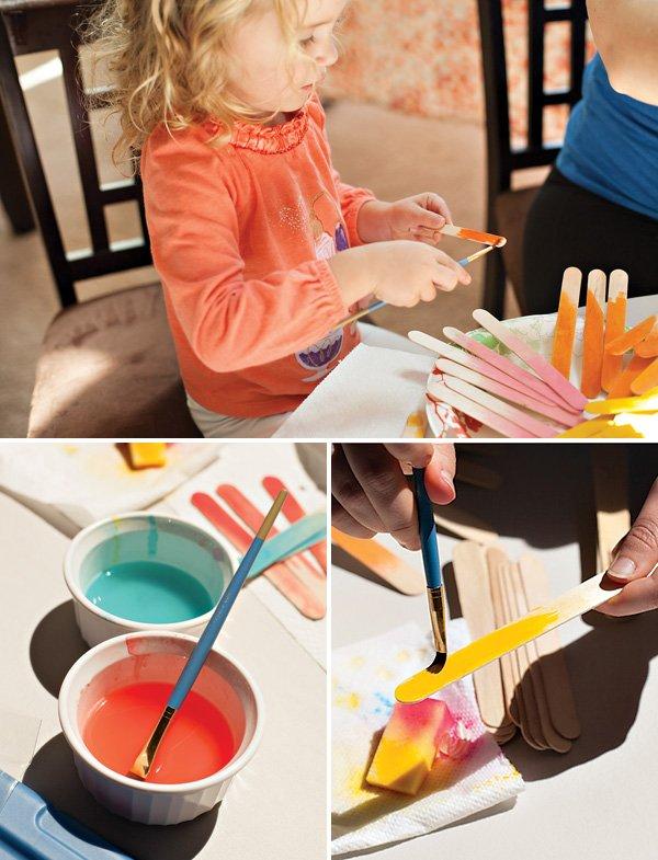 kids popsicle stick craft activity