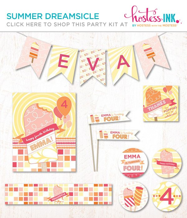 summer birthday party with a popsicle ice cream theme