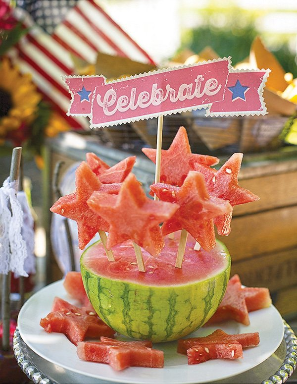 watermelon star skewers