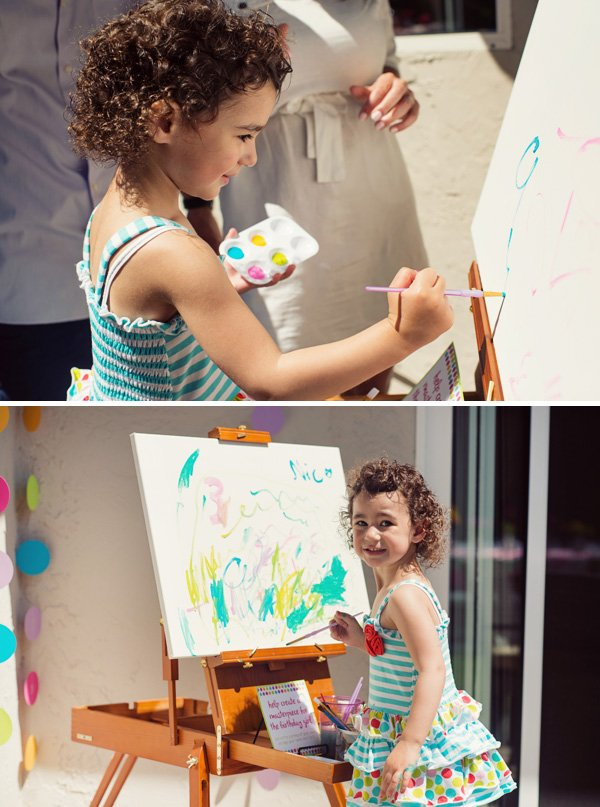 Birthday party painting