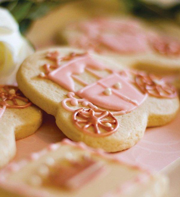 Pink Carriage Cookies