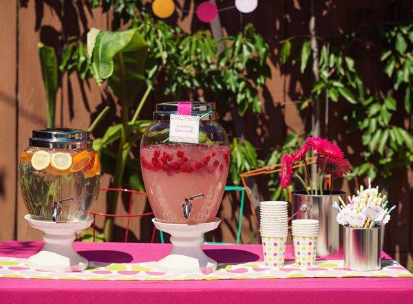 Pink drink station