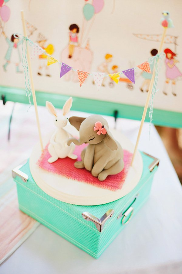 Elephant and Bunny party decorations