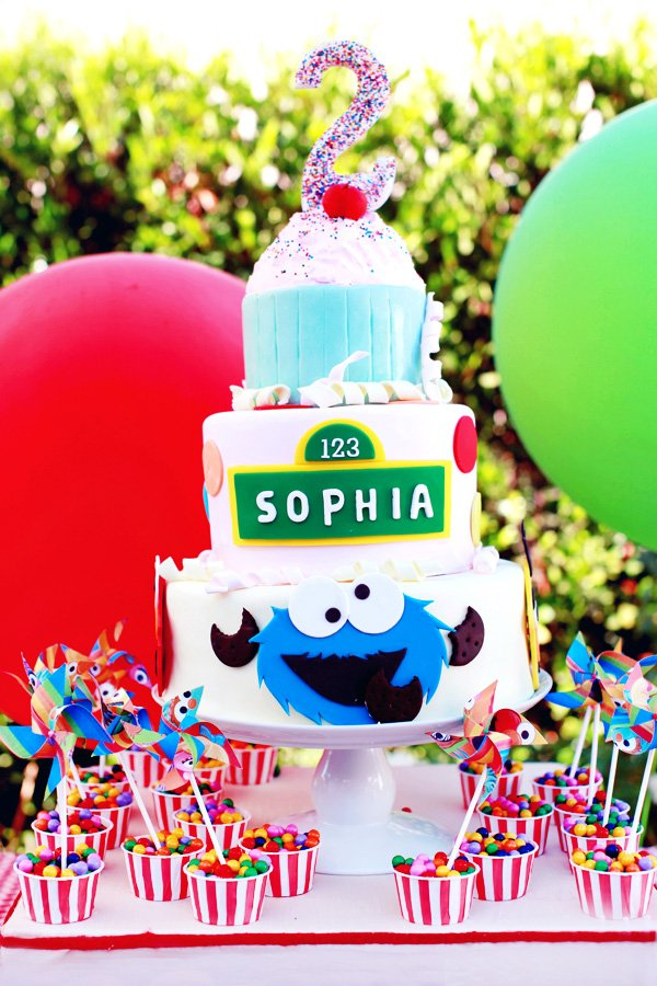 Playful Girly Sesame Street Themed Birthday Party Hostess With The Mostess