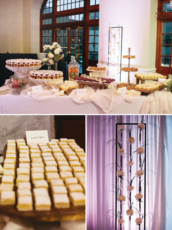 Sophisticated & elegant dessert table