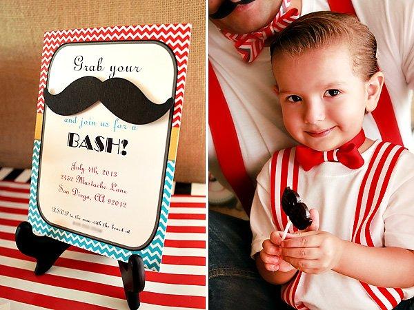 Dapper Father Amp Son Birthday Mustache Bash Hostess