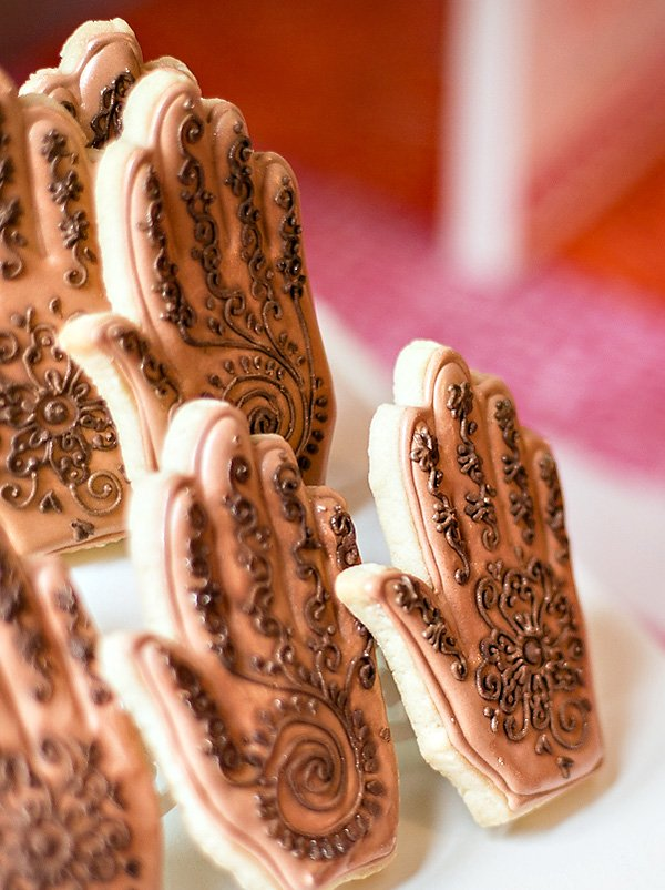 henna mendhi cookies