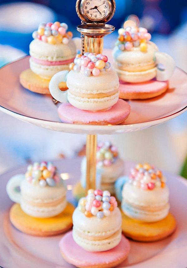 macaron teacups
