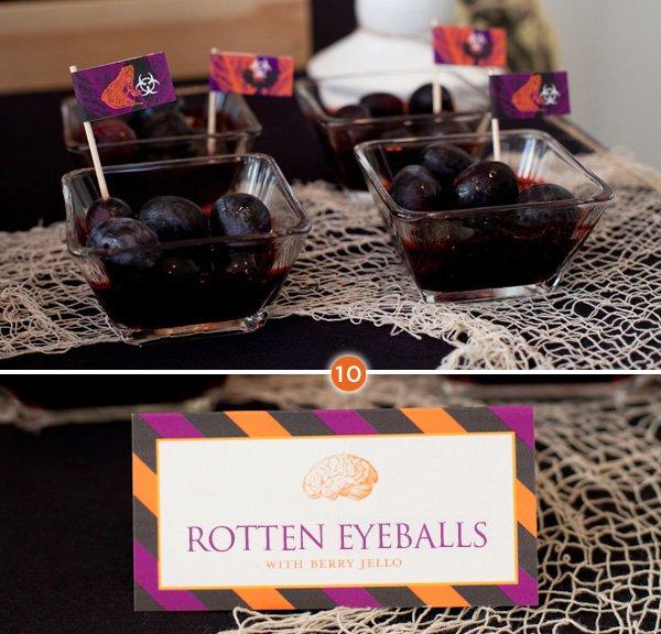Halloween Food - Rotten Eyeballs