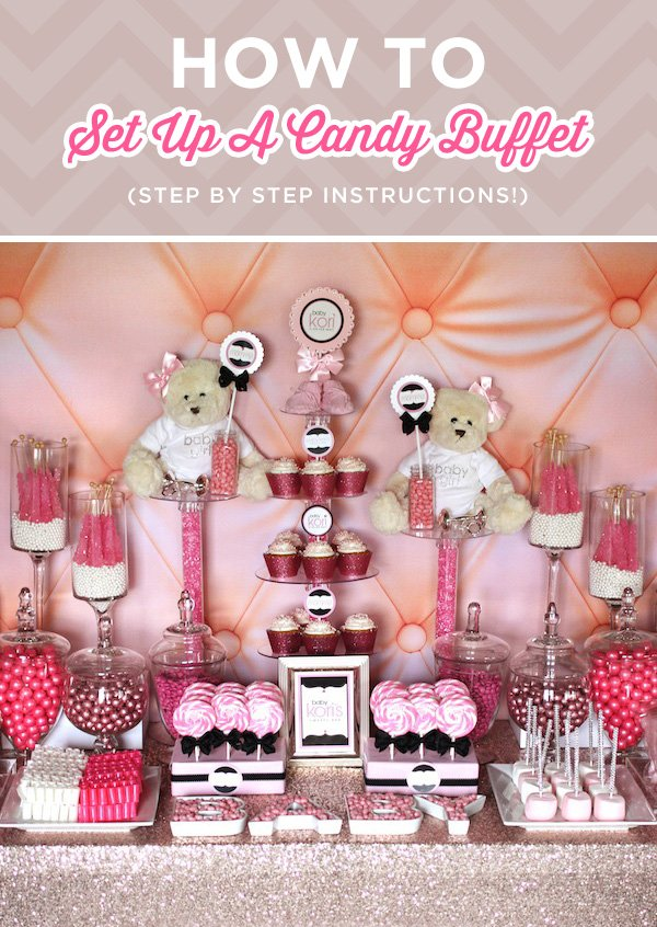 How To Set Up A Candy Buffet Step By Step Instructions Hostess With The Mostess