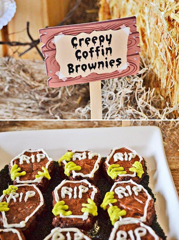 coffin brownies