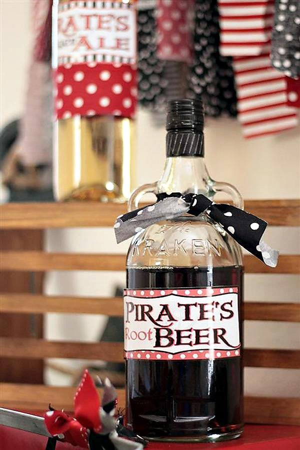 pirate birthday party root beer