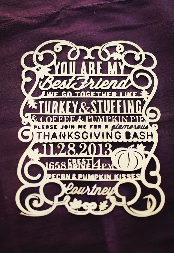 cut out thanksgving invitation