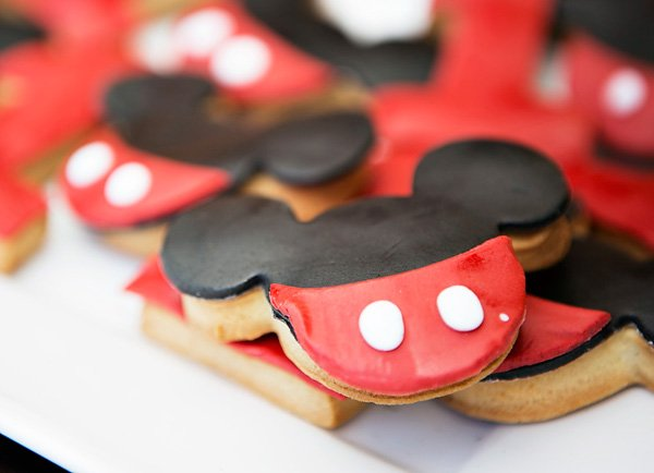 mickey mouse ear sugar cookies