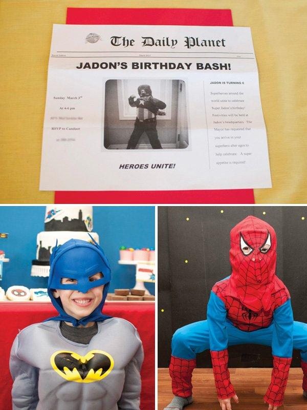 kids superhero party costumes