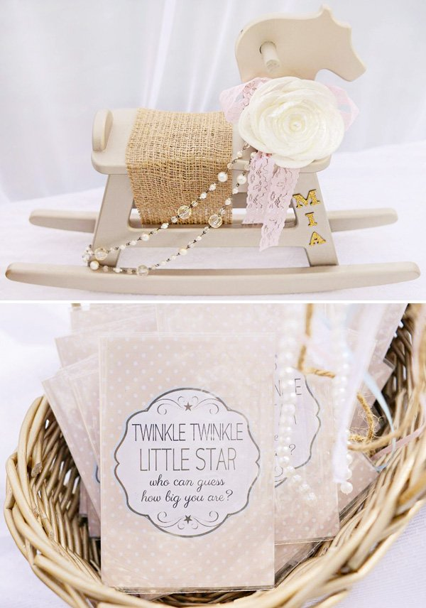 baby shower rocking horse