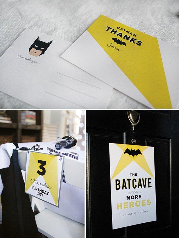 batman party thank you printables