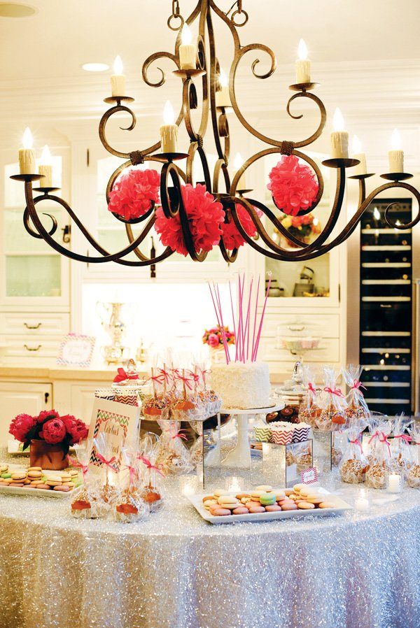 elegant and sparkly dessert table