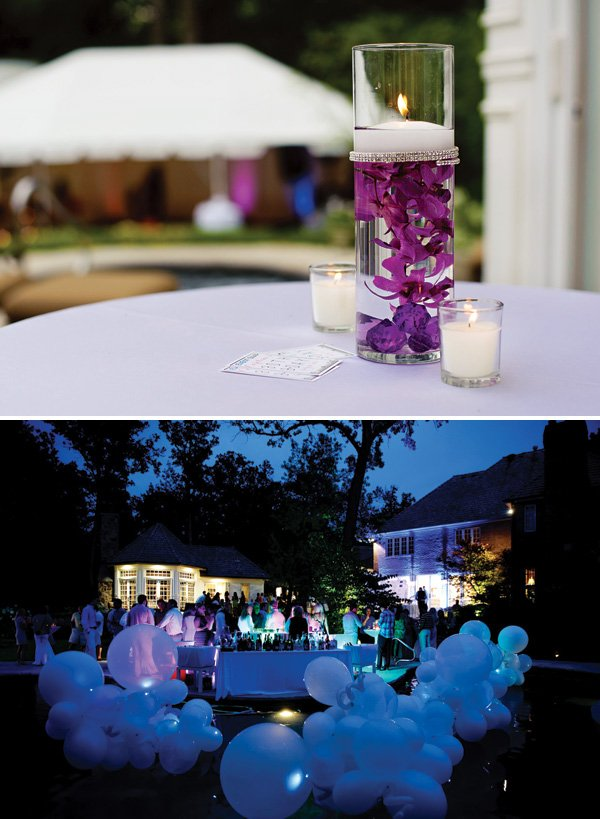 night time poolside birthday party