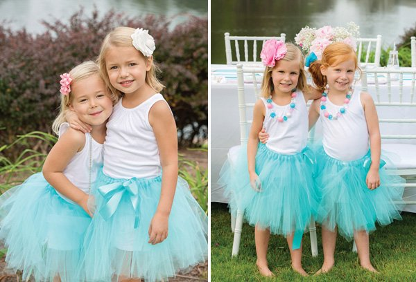 teal tutu twins' birthday outfits